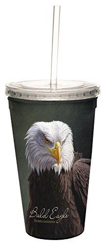 Tree-Free mit 3569616Oz Jeremy Paul Bald Adler Double-Walled Coole Tasse mit wiederverwendbaren Tropfen
