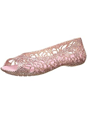 Crocs Isabella Glitter Flat Gs Blsm, Bailarinas Niñas