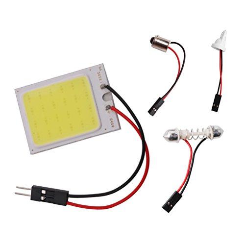 Vosarea COB 24smd Superbright Blanc LED Panneau de Toit Lampe Auto Voiture Intérieur Lampe de Lecture éclairage de Plaque Intérieur Filaire avec T10, BA9S Festoon Adaptateurs