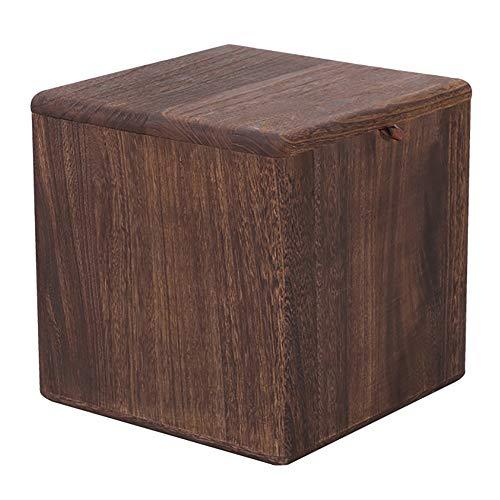 Lagerung Hocker LXF Tragbare Schuhbank aus massivem Holz, Haushalts-Quadrat-Hocker für Wohnzimmer, Antikollision -