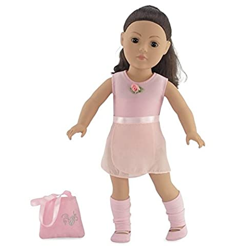Fits 18 American Girl Dolls | Ballerina Practice Outfit with