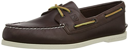 Sperry authentic original 2-eye, scarpe da barca uomo, marrone (brown), 44.5 m