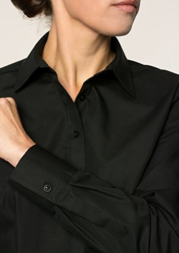 Michaelax-Fashion-Trade - Chemisier - Uni - Manches Longues - Femme Schwarz (39)