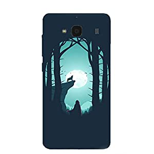 Back cover for Redmi 2 Night Wolf