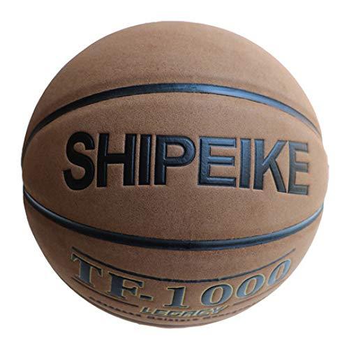 Sxuefang Fleece-Leder tragbar 7. Basketball, Outdoor - Leder - Schweiß - Rutsch - Verdickung - Matchball Leder Fleece