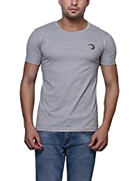 Grey Cotton Round Neck T-Shirt For Men's/Boy's Half Sleeves Tees Casual Tshirt By Oneliner Clothing