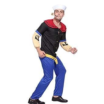Déguisement costume tenue marin sailer Popeye homme garcon halloween carnaval fete taille unique M