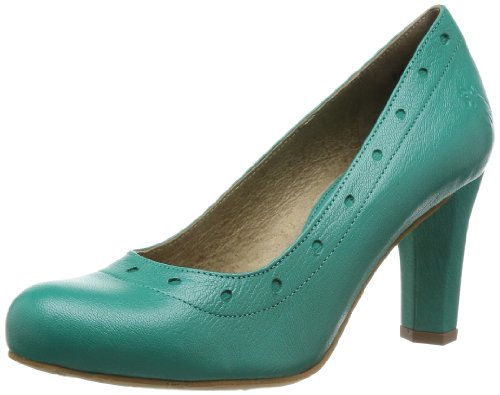 Fly London - Scarpe col tacco P143030004 Donna, Turquoise - Peacock/Peacock, 35