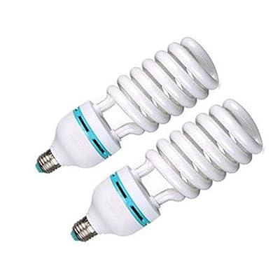 (PMS) 2 x Ein Paar 135W 5500K E27 Fotolampe Energiesparlampe Tageslichtlampe Fotoleuchte Energiesparlampe fotostudio studioleuchte