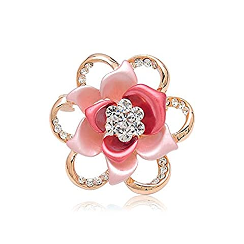 Fajewellery Fleur Rouge Tulipe Broche cristal plaqué