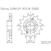 Ritzel 13 Z/ähne Stahl 520er Teilung 5//8x1//4 f/ür EXC 450 2006-2011