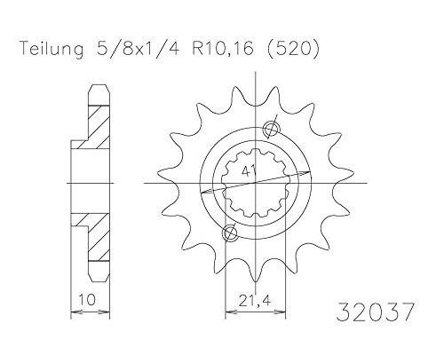 Ritzel 13 Zähne Stahl 520er Teilung (5/8x1/4) für Yamaha MT-03 2012-2013