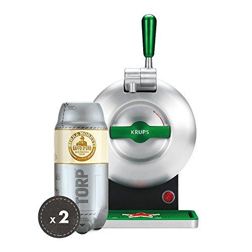 Birra Moretti THE SUB Set Spillatura Domestica   THE SUB Spillatore Birra da Casa, Edizione Heineken   2 x TORP Birra Moretti Fustini di Birra da 2 Litri