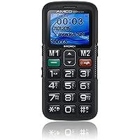 Brondi Amico Semplice + Telefono Cellulare, Tasto SOS, Nero
