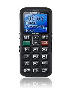 Brondi Amico Semplice + Telefono Cellulare, Nero