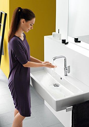 Hansgrohe – Einhebelmischer, Push-Open Ablaufgarnitur, ComfortZone 230, Chrom, Serie Metris - 6