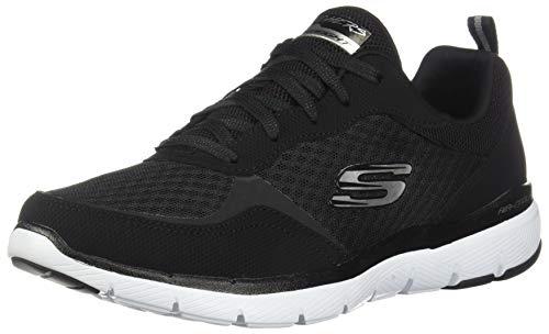 Skechers Damen Flex Appeal 3.0-go Forward Sneaker, Schwarz, 39 EU