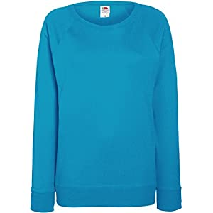 Fruit of the Loom 62146 Womens Ladies Lady-Fit Lightweight Raglan Sweatshirt