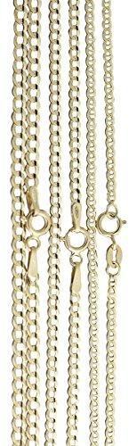 Hobra-Gold Goldkette 585 Ankerkette feine massive Halskette 42/45/50/55 CM