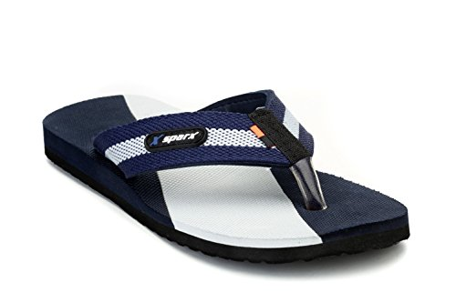 Sparx Men's Navy Blue and Grey Flip-Flops and House Slippers - 8 UK/India(42 EU)(SFG-14)