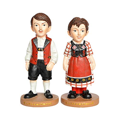 Mann Kostüm Schwedischen - Paar Statue Schwedische Liebhaber Figur Trägt Schwedische Tracht Paar Skulptur Harz Handwerk Geschenke Souvenir Hauptdekorationen,Couple