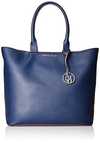 ARMANI JEANS donna borsa shopping 922535 CC856 00735 BLU UNICA Blu