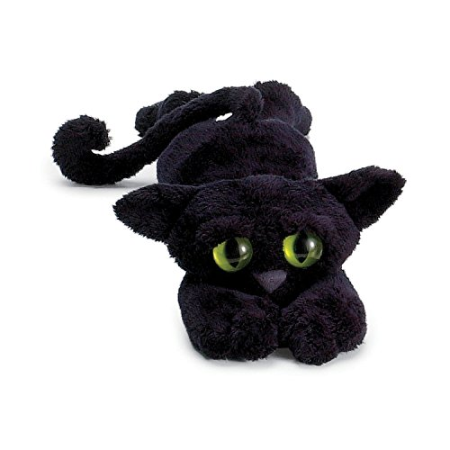 Manhattan Toy 104140 Lanky Cats - Peluche de gato, color negro