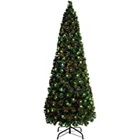 WeRChristmas Pre-Lit Christmas Tree with 290 Fibre Optic Lights, Multi-Colour, 7 feet/2.1 m