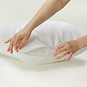 Pillow Protector Cotton Rich Anti Allergy Protector Zipped Closing
