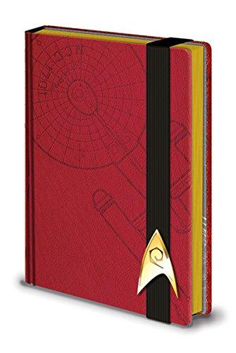 Star Trek Premium Notizbuch Raumschiff Enterprise Hardcover im Lederlook, gebunden, 240 Seiten, mit Gummiband