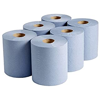 12 x Rolls of Blue 2 PLY Embossed CENTREFEED Paper Towel Rolls - Cleaning Tissue Paper Rolls *** Next Day UK DELIVERY *** Visit Our Exciting Amazon Packaging Catalogue - Search > Wellpack Europe