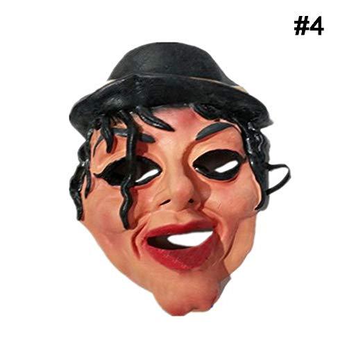 en Masken Promi Mann Gesichtsmaske Voller Kopf Atmungsaktive Halloween Maskerade Party Latex Ornament Echt Simulieren Maske ()