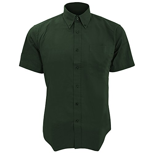 SOLS - Camicia Maniche Corte 100% Cotone - Uomo Verde bottiglia