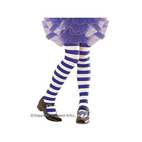 WIDMANN STRIPED PANTYHOSE - BLUE/WHITE - 11-14yrs