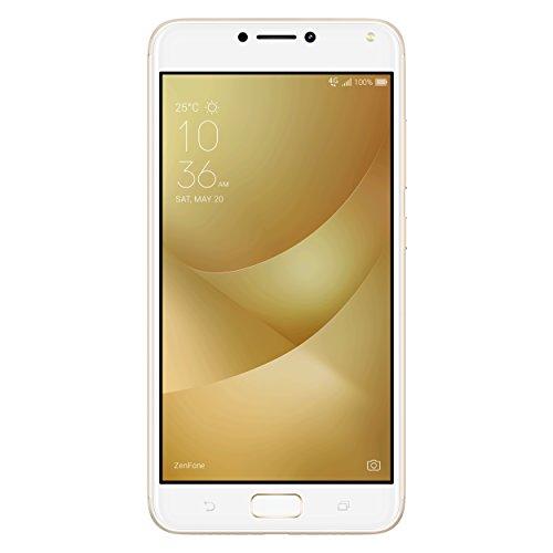 Asus ZC554KL-4G039WW ZenFone 4 Max Pro Smartphone (13,97 cm (5,5 Zoll), Internal RAM 3GB, 32GB, Dual SIM, Main Kamera 13MP, 5MP, Android, 7.0) Sunlight Gold (Handy Asus Zenfone 5)