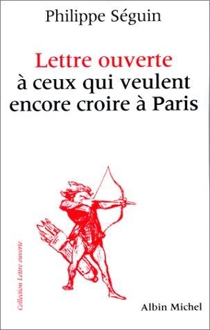 Lettre ouverte à ceux qui veulent encore croire à Paris