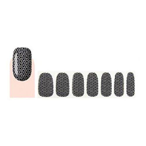 GLAM UP - Stickers Vernis Adhésifs ongles - Noir Blanc