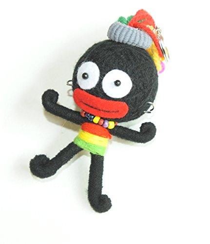 Reggae Rasta Mädchen Voodoo Puppe Schlüsselanhänger Tasche Charme
