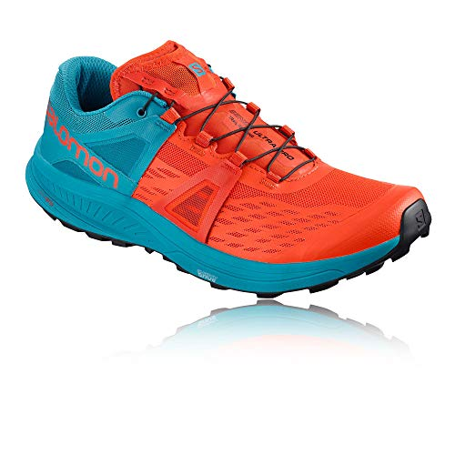 Salomon Zapatos Running Hombre Ultra Pro cherrry to Naranja/Azul Ah 2018, Cherry Tomato/Fjord Blue/Black, 44 2/3