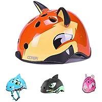 YGJT Casco de Bicicleta Patinete Infantiles para niños 2-5 años Casco Protección Seguridad Zorro