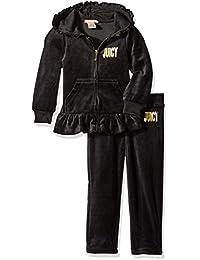 1feca0c08 Juicy Couture Girls 2 Piece Velour Pants Set Clothing Set
