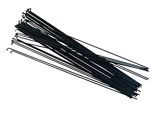 SLE Speichen 250mm–303mm, Set von 36verzinktem Stahl schwarz oder silber Fahrrad, Bike Spoke, schwarz