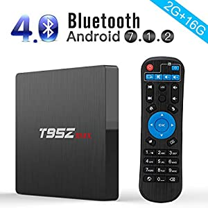 Android TV Box, T95Z Max Android 7.1 TV BOX Amlogic S912 Octa Core 2GB RAM 16GB ROM Android TV Box Support 2.4G/5G Dual Band WIFI 1000M LAN 4K 3D With Remote Control