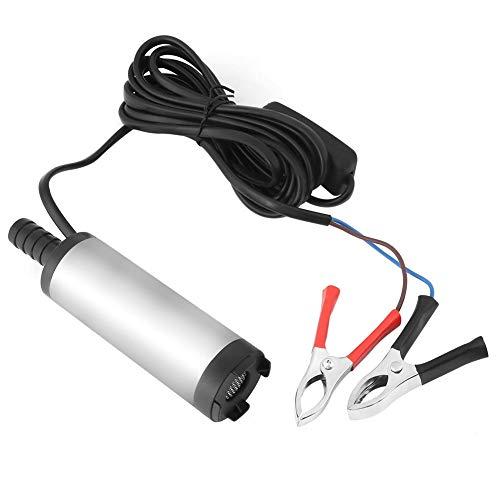 takestop® Pompa POMPETTA TRAVASO Carburante ws1919 Olio Benzina LIQUIDI Auto 12/24V Elettrico Acciaio Inox 60W con Filtro Pulsante ON/off