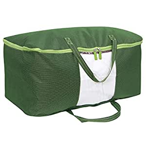 HOKIPO® Waterproof Blanket Cover Bag Large Size Clothes Storage Organizer Bag, 60 X 40 X 25 cm, Green - Pack of 1