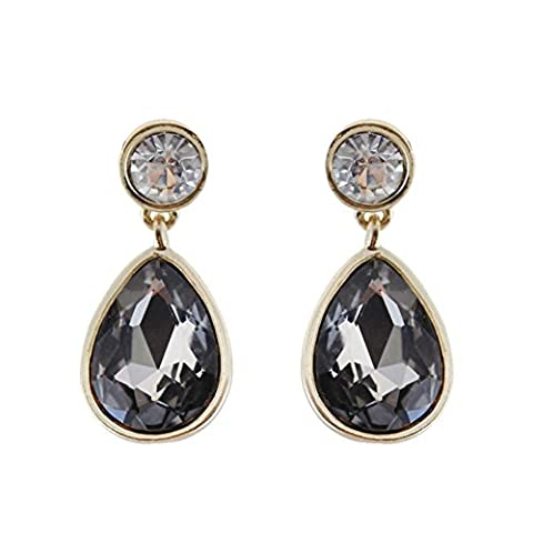 Europe and textured grey wind fashion drop earrings/ artificial crystal earrings gold-plated-A