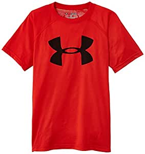 Under Armour Tech Big Logo T-Shirt multisport manches courtes Garçon Risk Red/Black FR : 8 ans (Taille Fabricant : YXS)