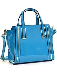 Dasein Fashion Designer Faux Leather Satchel Handbag Tote Shoulder Bag Purse  For Women With Strap dd6b5eb182c65