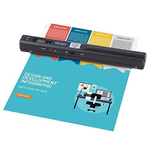 Portable Scanner 900 DPI A4 Dokumentenscanner Handheld für Business, Foto, Bild, Quittungen, Bücher, JPG/PDF Formatauswahl, Micro SD Card Handscanner