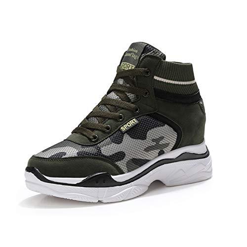 YXB Damen-Sneakers Neue 2019 High-Top Casual Shoes Fashion Stretch Mesh Socken Schuhe unsichtbare Oberschenkelschuhe,A,34